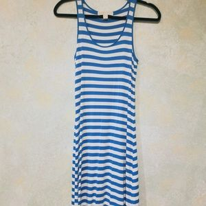 Michael Kors White and Turquoise High Low Sundress